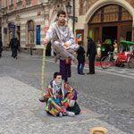 Go and watch the street performers