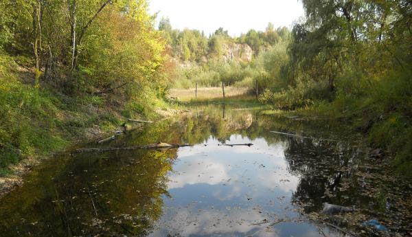 Lake/pond, quite close to the quarry buildings