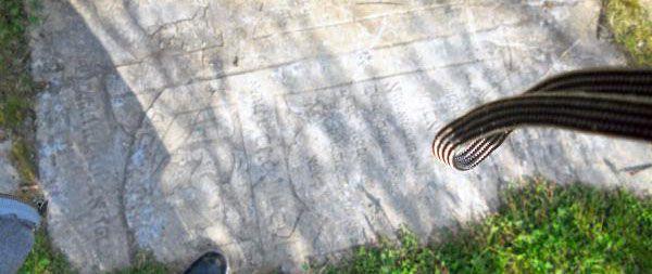 Gravestones/tombstones on the ground