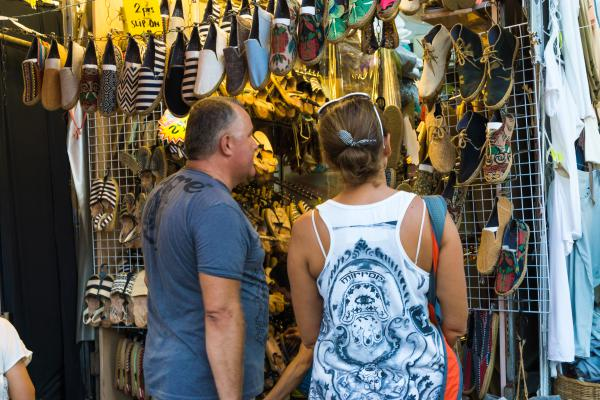 Shopping In Chatuchak Market In Bangkok