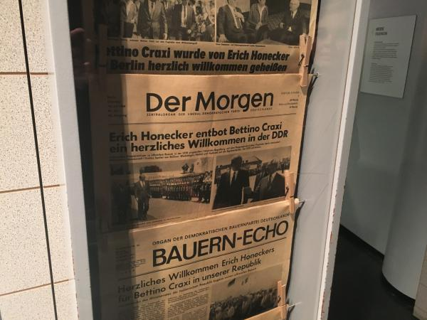 Old newspapers from the Berlin DDR Museum