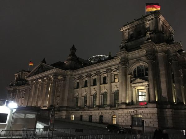 Outside the Reichstag building