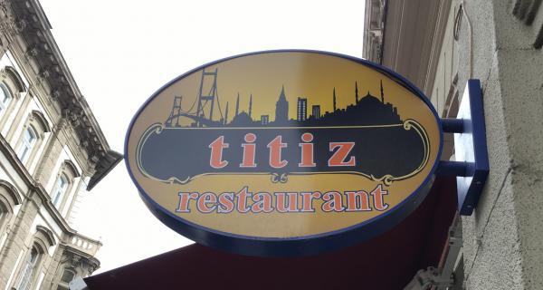 Funny named restaurant in Budapest - Titiz