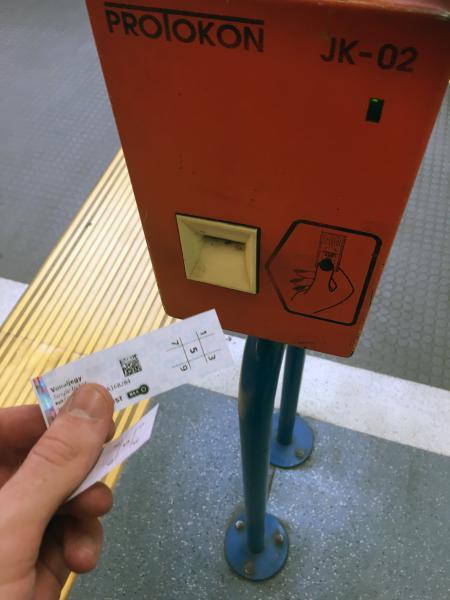Validating Underground Tickets