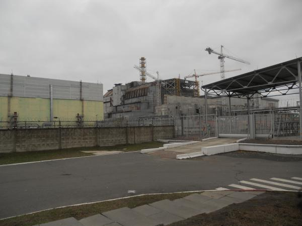 The Chernobyl Power plant from a (small) distance
