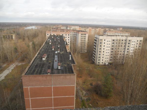 Chernobyl rooftop