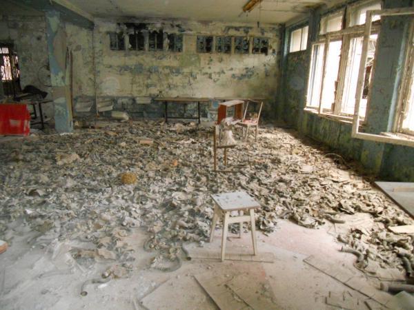 Chernobyl school gas masks