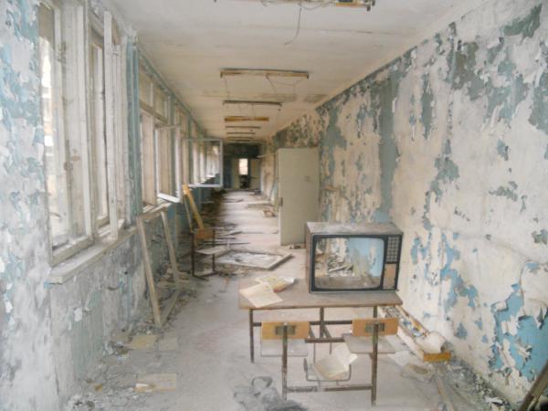 Chernobyl school hallway