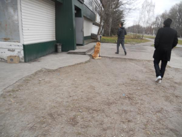 Entering the shop in Chernobyl