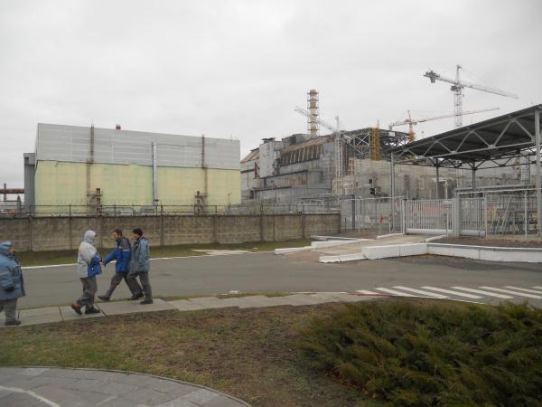 Power plant workers