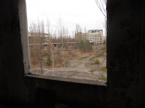 Through a window, in Pripyat