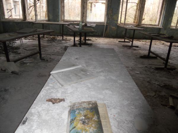 School desk that we saw on our Chernobyl day tour