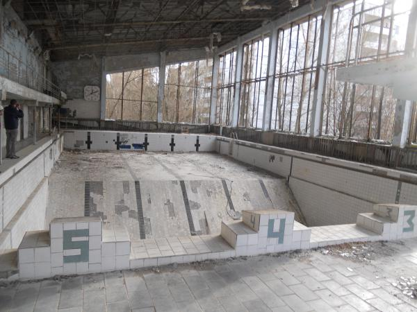 Abandoned swimming pool in Chernobyl