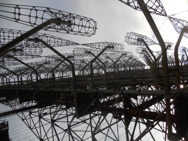 Soviet Radar Station - looking up