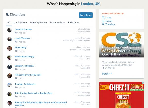 Couchsurfing's London Discussion Page