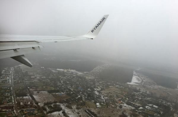 Flying into Riga, with Ryanair