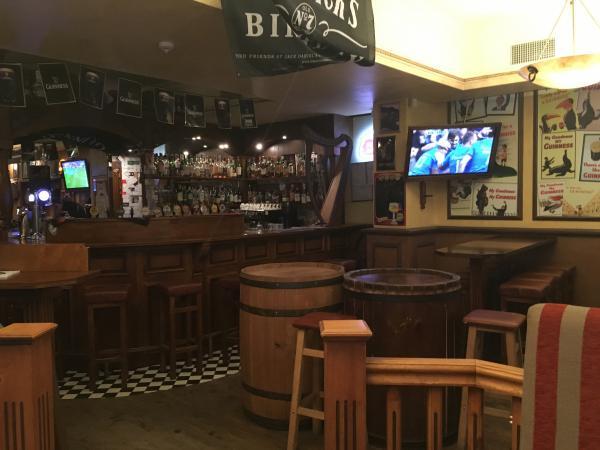 Inside of Maloney's Pub in Riga