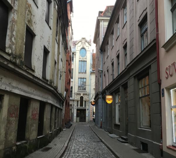 Riga back streets - city center