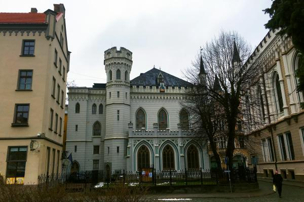 Mini castle in Riga's old town