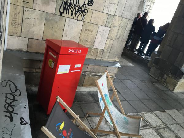 Postbox in Palace of Culture and Science