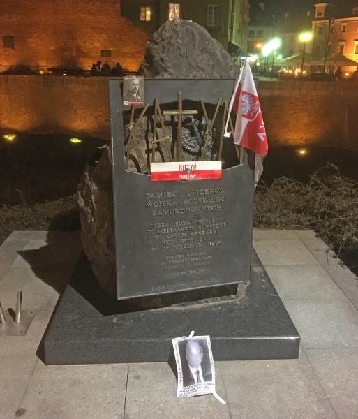 Katyn + Plane Crash Memorials, close to the Royal Castle