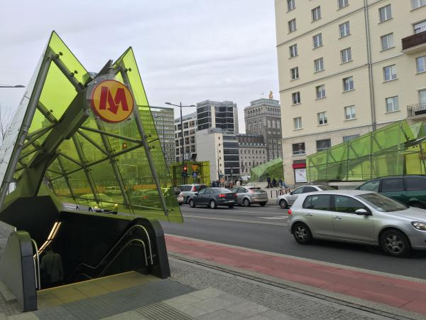 Warsaw Metro Stations are dotted around the city