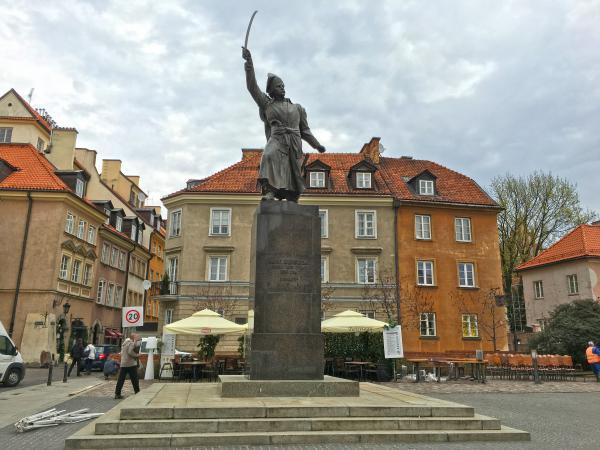 Monument to Jan Kiliński, commander of the 1794 Warsaw Uprising