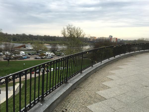 Love Padlocks along a fence, near the river... but not a bridge!