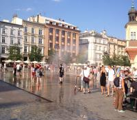 Krakow Main Square in the summer
