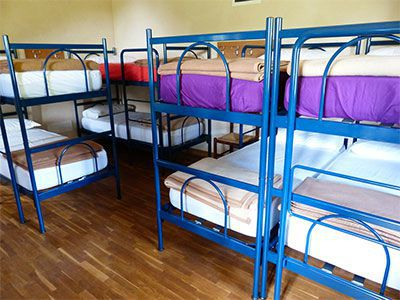 Hostels have bunk beds, Hotels have real beds!