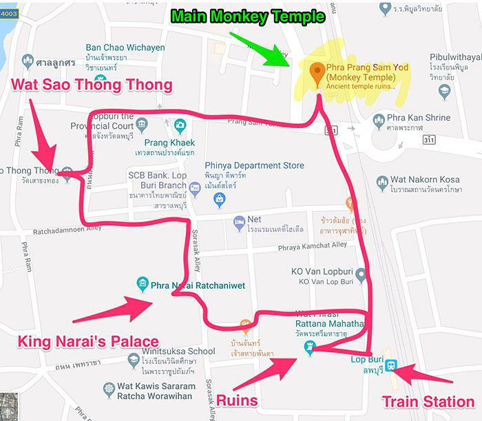 Lopburi Thailand Map.Exploring The Thailand Monkey City Of Lopburi And How To Get There