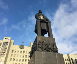 Lenin Statue on Independence Square