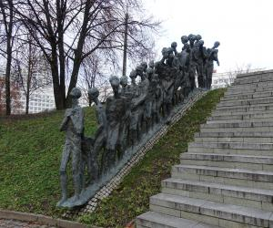 Monument to Fallen Jewish People from WWII in Minsk
