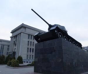 Monument to Soldiers Tank in Minsk